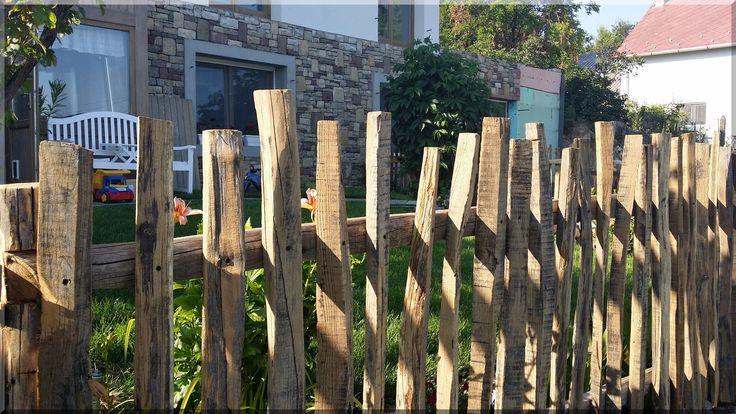 Szőlőkaró kerítés