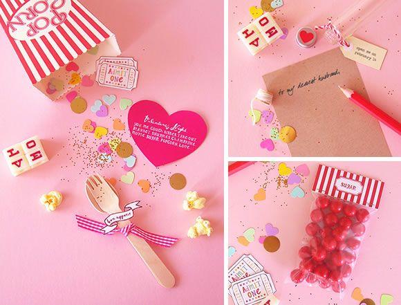 Valentine invitation printable & DIY