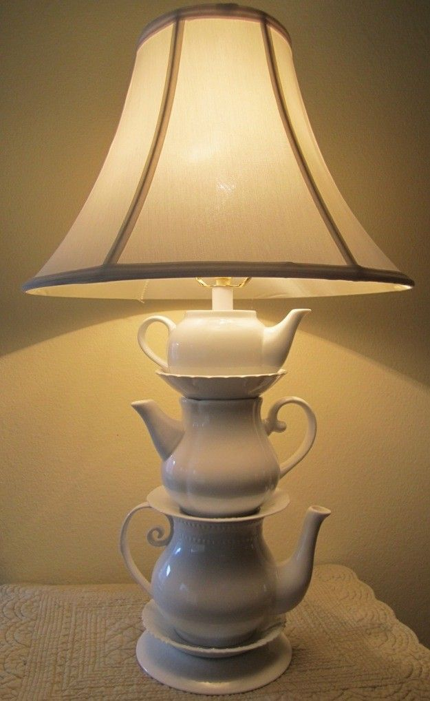 Whimsical Teapot Lamp. $60.00 Cute for a themed Alice in Wonderland room.