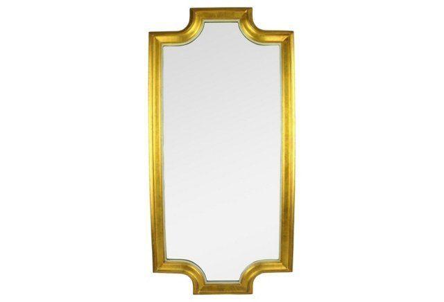 Giltwood Midcentury Mirror
