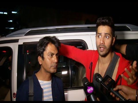 BADLAPUR starcast Varun Dhawan, Yami Gautam, Nawazuddin spotted at Mumbai Airport.