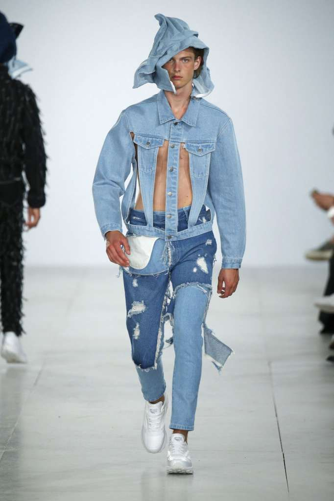 "And now we'll begin a section entitled ""Abominations in Denim."" We do understand the need for ventilation, it being summer and all.  Photo: Estrop/Getty Images"