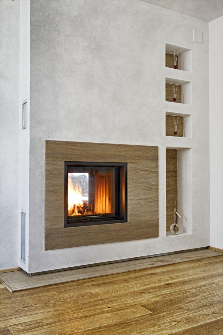 Kachelofen mit steinverkleidung modern by dkob deine for Wohnzimmer ofen modern