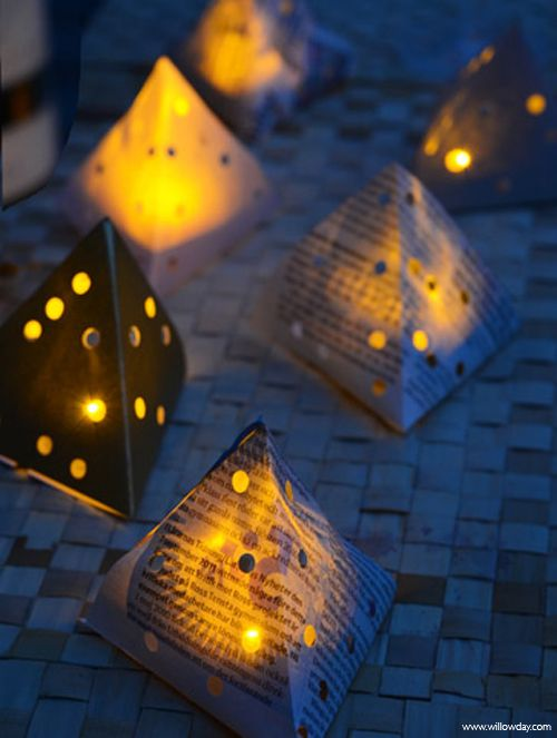 willowday: Paper Lanterns (with LED lights) I need to hunt down some LED tea lights!