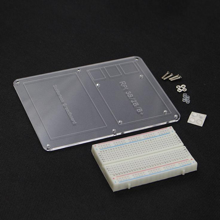 New 400 Point Breadboard +Raspberry pi Mounting Plate Prototype Experiment Plate for Raspberry Pi 3 B & Raspberry Pi 2 Model B+