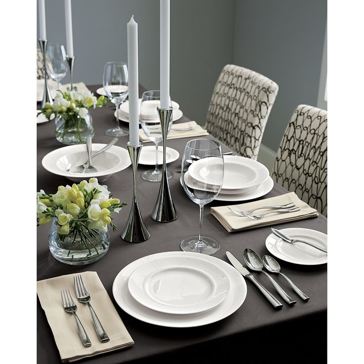 Fete Pewter Grey Tablecloth | Crate and Barrel
