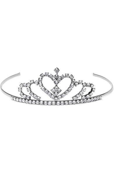 Saint Laurent   Silver-tone crystal headband   NET-A-PORTER.COM