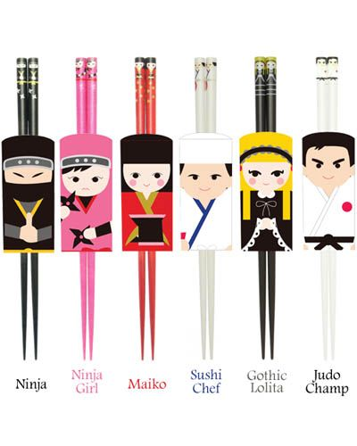 Kokeshi Chopsticks. So cute I hope I can find these before I move back to the states.