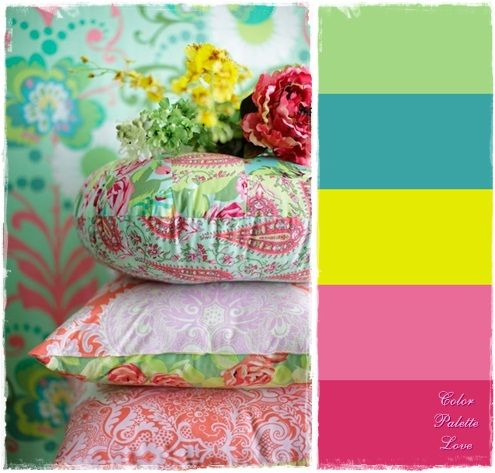 Girls Room Color Scheme   Love All The Bright Colors