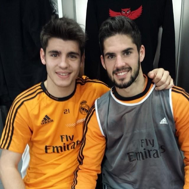 Morata. Isco. Real Madrid