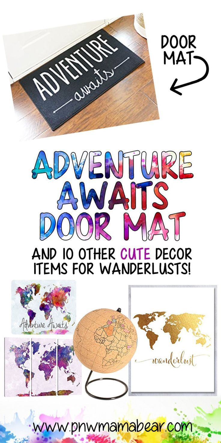 11 Home & Office Travel Themed Decorations You Need! Home and Office Decorations for the Wanderlust Soul. Travel Seeker. Adventure Lover. Adventure Awaits. Not all Those who Wander are Lost. By PNWMamaBear.com