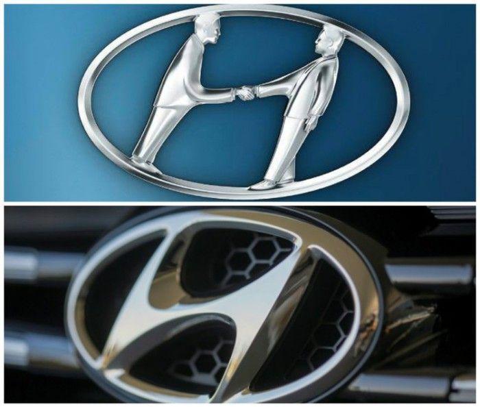 Многие ошибочно полагают, что логотип Hyundai означает заглавную букву названия компании. Это не так. В действительности импровизированная «Н» - это клиент и продавец пожимающие друг другу руки.  Источник: http://www.novate.ru/blogs/120815/32521/