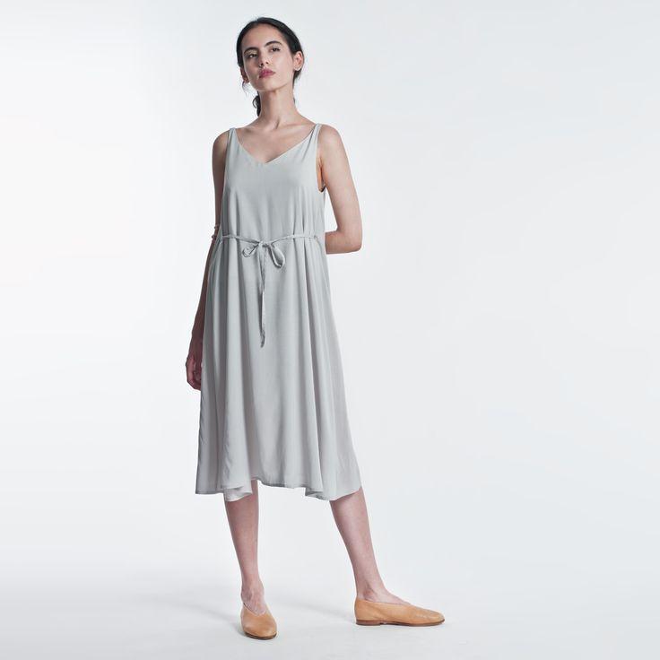 Summer Dress Blue Elementy #dress #blue #midi #summer #elementy #minimal #classic #polishfashion