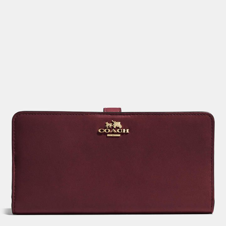 COACH Coach Madison Skinny Wallet In Leather