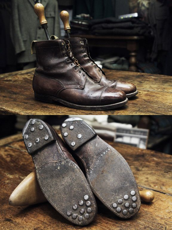 Melancholic Euphoria, WWII era British Army officers boots