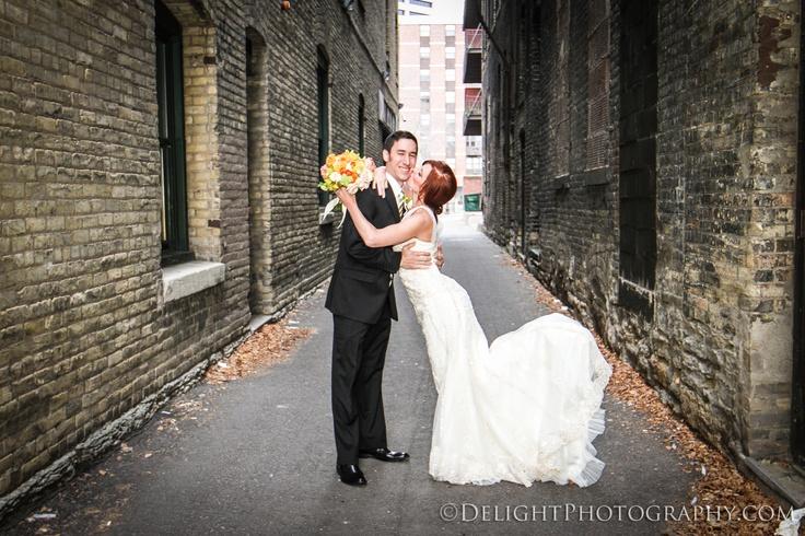 Alleyway wedding