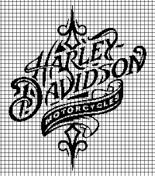 Harley Davidson (Chart/Graph AND Row-by-Row Written Instructions) - 05