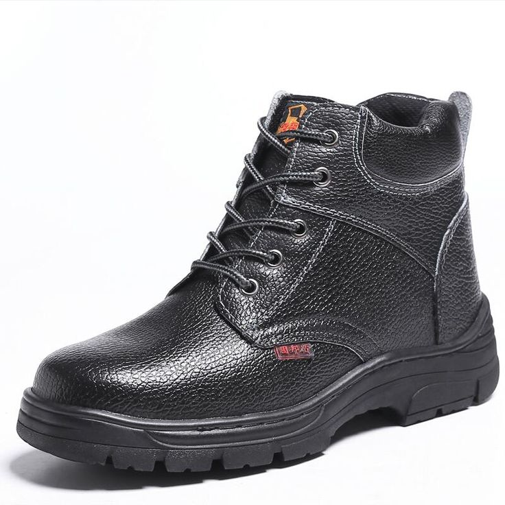 new arrival men fashion steel toe caps working safety shoes cow leather spring autumn tooling ankle boots protect footwear lace