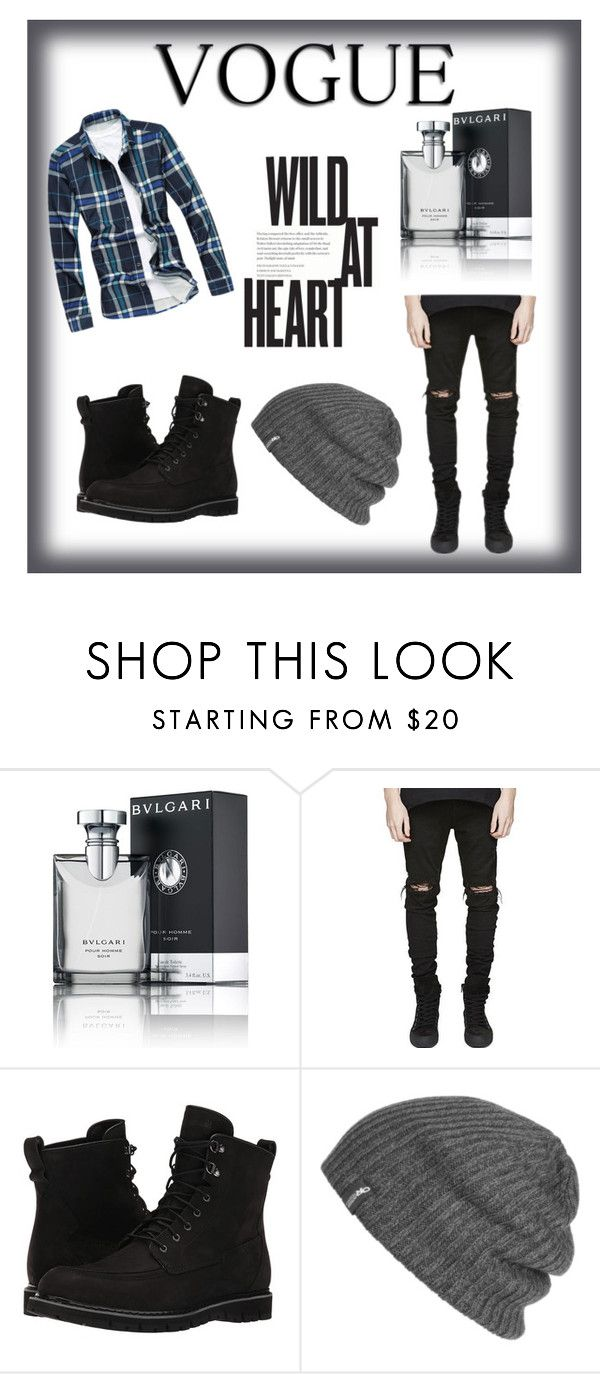 """Men's Fashion"" by so-chic-angeles ❤ liked on Polyvore featuring Bulgari, Timberland, Outdoor Research, men's fashion and menswear"