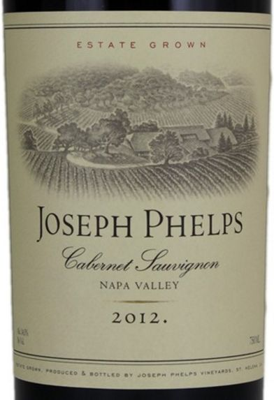 2012 Joseph Phelps Cabernet Sauvignon Estate Grown Napa Valley