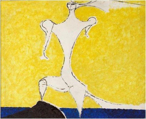Due note su uno dei più importanti maestri della pittura del novecento, in mostra fino al 30 giugno a Lucca alla Galleria Claudio Poleschi. Piccole e preziose, grandi e avvolgenti, le tele dell'artista marchigiano parlano di notti liquide, di sogni, di voli pindarici e d'Europa.
