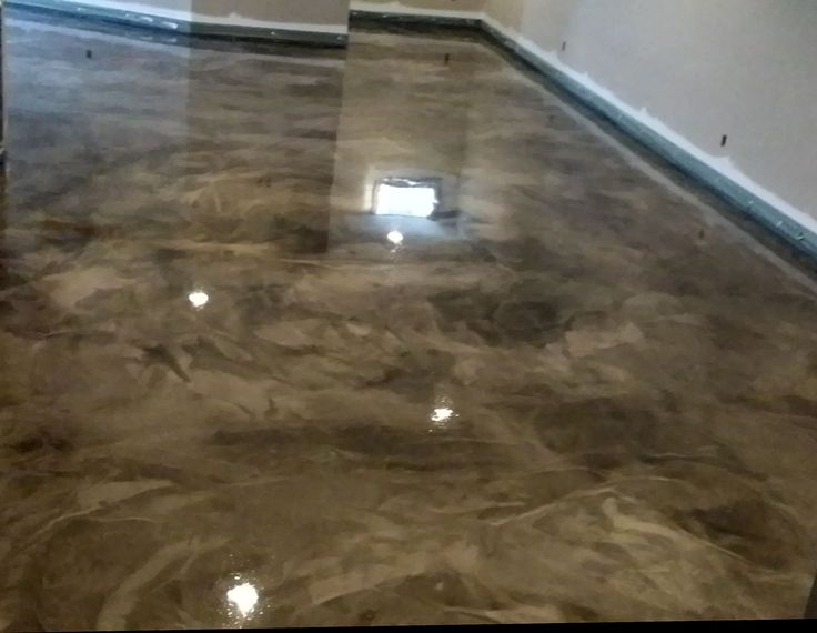 metallic epoxy flooring, concrete basement, columbus ohio. Better than ...