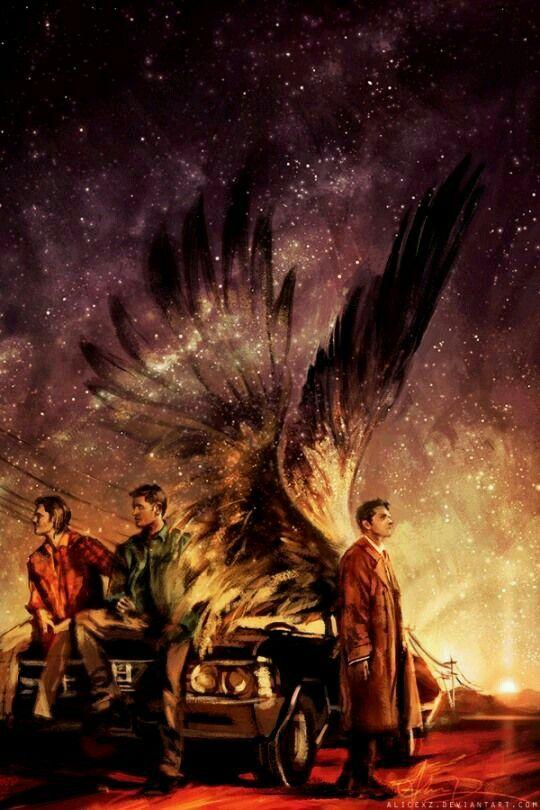 Castiel, Sam,and Dean