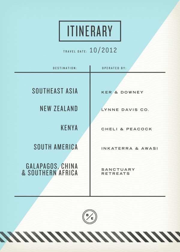 Passport inside 3 - Layout and type inspiration. Nice and simplistic, good use of colour and style