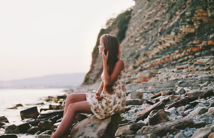 sea, girl, dress, flowers, photography ideas