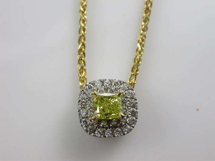 Fancy Intense Yellow #Argyle Diamond Pendant