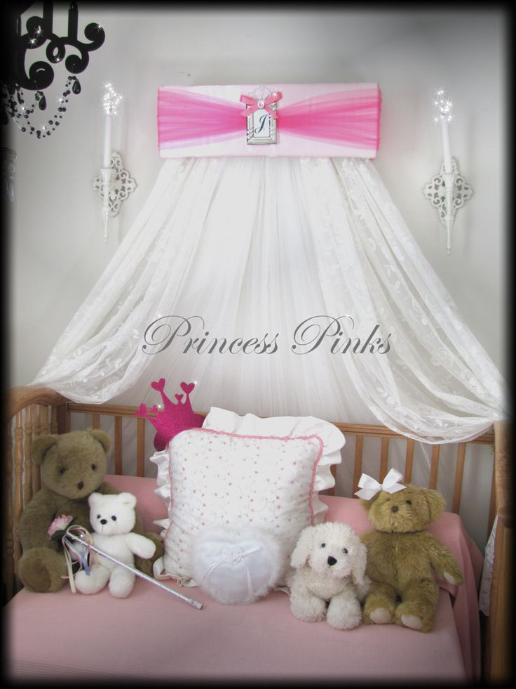 Princess CrOwN PINKS Crib Canopy Upholstered FREE Monogram SALE By SoZoeyBoutique On Etsy