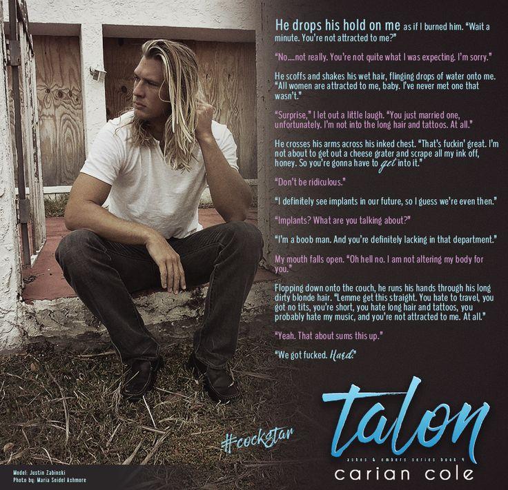 Talon teaser (Ashes & Embers book 4, coming October 30, 2015) Model: Justin Zabinski, photo by Maria Seidel Ashmore