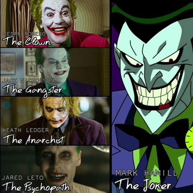 Mark Hamill will always be my favorite Joker, he's the real MVP (Most Valuable Psychopath) AAAAAAHAHAHAHAHAHA!!!!