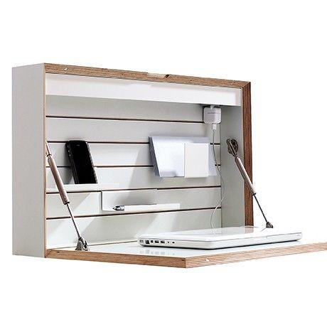 Flatbox Sekretär - Weiß von Müller Möbelwerkstätten