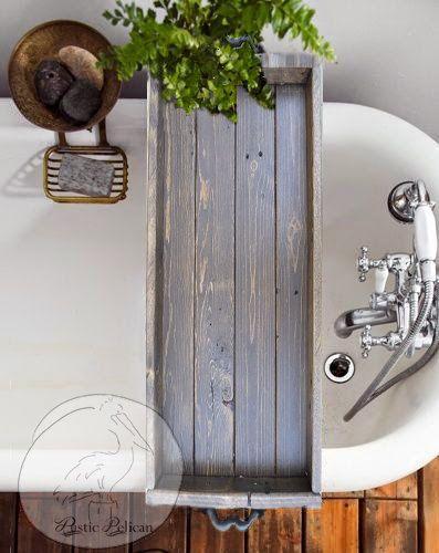 Vintage Bathtub Tray -Bathtub Caddy -Wood Bathtub Tray with Handles - Vintage -Tub Tray -Tub Caddy -Rustic Tray - Bath -Bathroom -Home Decor