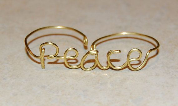 Double Wire Ring - Peace
