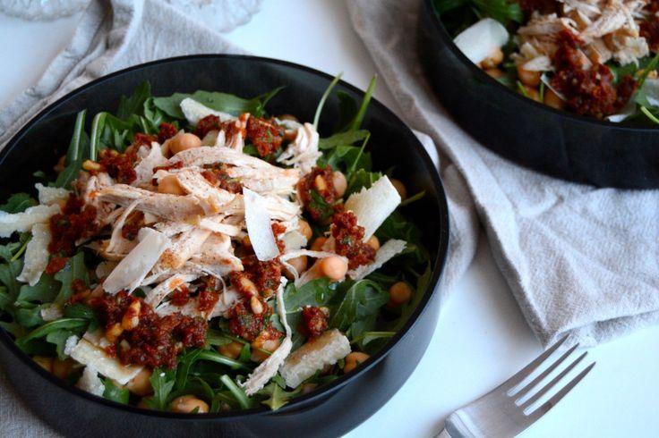 lett k.salat m rød pesto