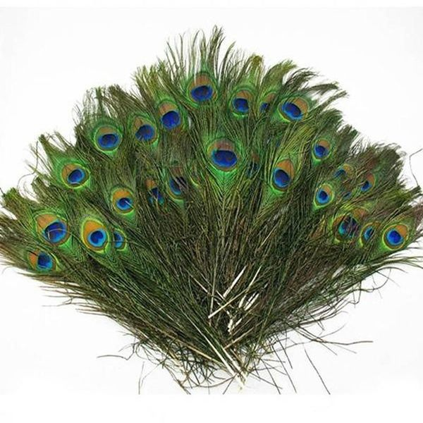 Beautiful 10 pcs natural peacock feathers eyes 10-12inches//25-30cm DIY