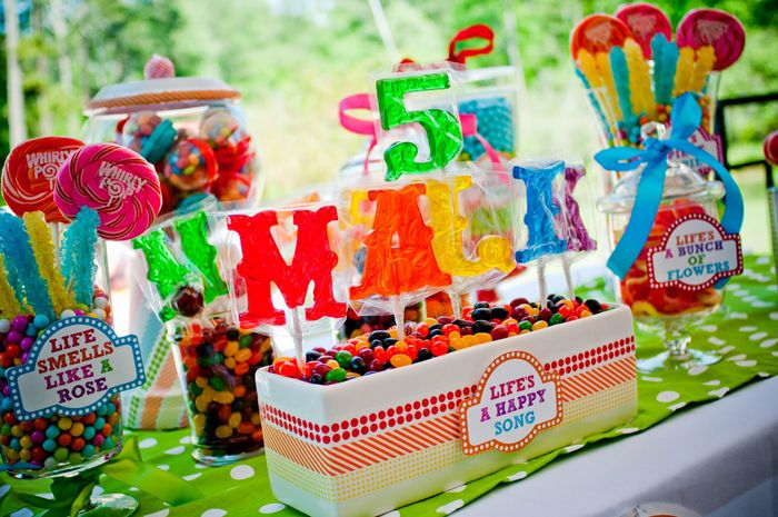 Muppets: Theme Birthday Parties, Kids Parties, Rainbows Birthday, 5Th Birthday, Candy Bar, Muppets Parties, Candy Tables, Parties Ideas, Desserts Tables