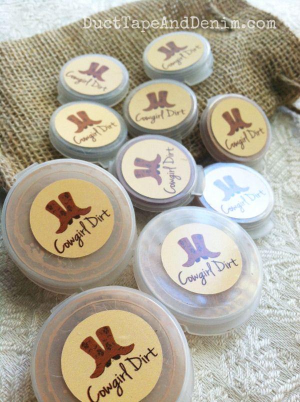Cowgirl Dirt makeup samples   DuctTapeAndDenim.com