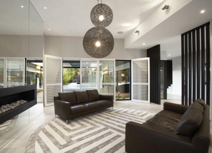 haus einrichtung modernes haus mit pool von einer. Black Bedroom Furniture Sets. Home Design Ideas