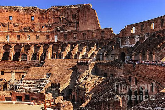 Rome, Italy - The Colosseum Interior by Devasahayam Chandra Dhas