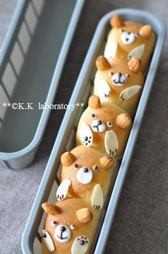 Laboratory Konako - How to make bread pledge of bears. These are cute for any holiday :)
