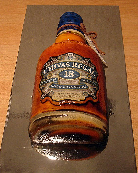 Cake Chivas Regal Bottle Mens Birthday Cakes Men S