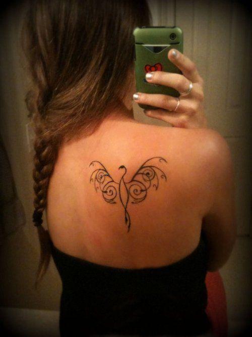 Elegant Simple Phoenix Back Tattoo Phoenix Tattoo Phoenix Back