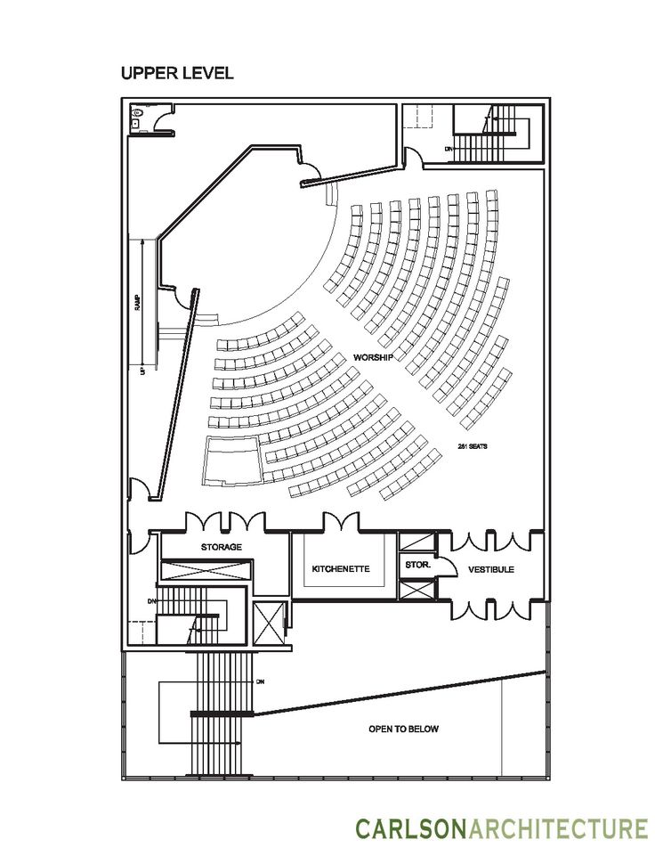 Small Church Floor Plan, Church building plan