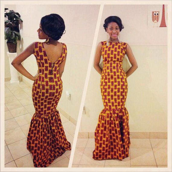 Dress in African Fabric #ItsAllAboutAfricanFashion #AfricaFashionLongDress #AfricanPrints #kente #ankara #AfricanStyle #AfricanFashion #AfricanInspired #StyleAfrica #AfricanBeauty #AfricaInFashion