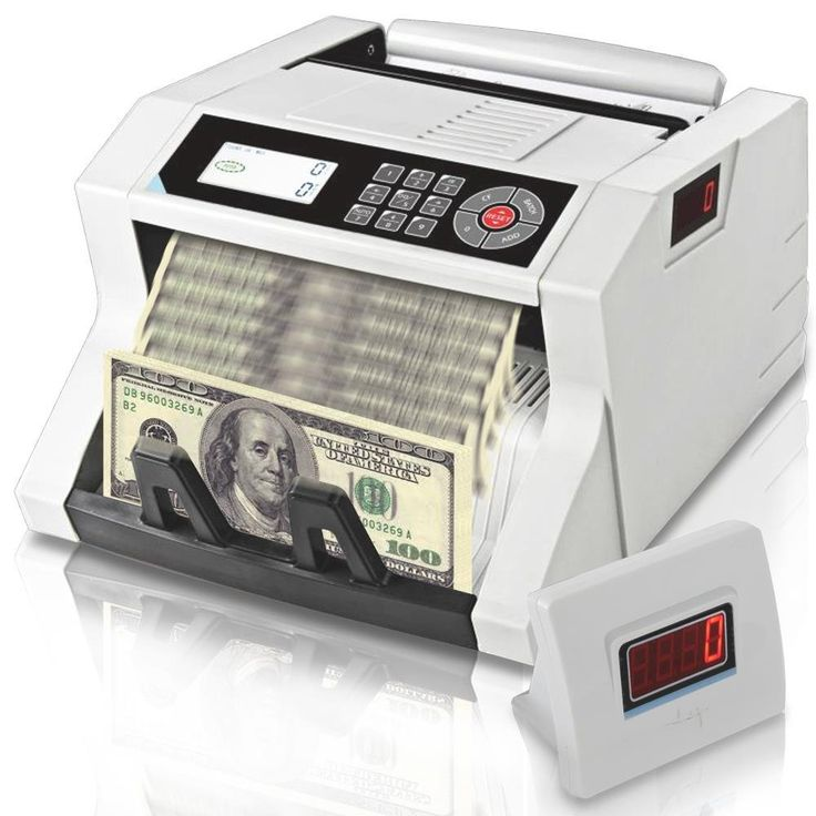 Upgraded Pyle Bill Counter, Cash, Automatic Counting Machine, Toploader, UV & MG Counterfeit Detection, UV Scanning, LCD Display, 1100 Pieces Per Min, U.S. & Canadian Dollar, Euros & Pound (PRMC400)