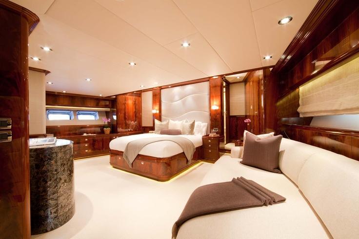 Sailing yacht Destination - master cabin | Yacht Interiors ...