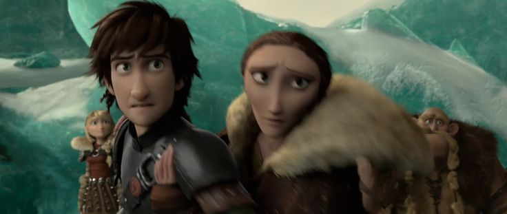 Hiccup tries to save Toothless from Drago Bludvist, but his mother, Valka holds him back because she is worried that Drago will try to make Toothless hurt Hiccup again.